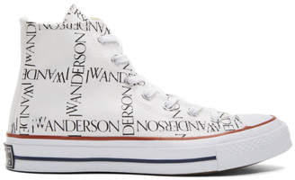 J.W.Anderson White Converse Edition Grid Logo Sneakers