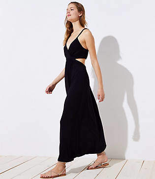 LOFT Beach Cutout Maxi Dress