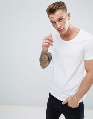 Asos DESIGN t-shirt with scoop neck in white