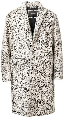 DSQUARED2 printed single-breasted coat