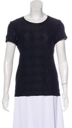 Armani Collezioni Short Sleeve Textured Top