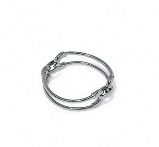 "Giles and Brother ""Cortina"" Double Link Rhodium Finished Cuff Bracelet $170 thestylecure.com"