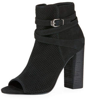 Pelle Moda Adrina Open-Toe High-Heel Nubuck Booties