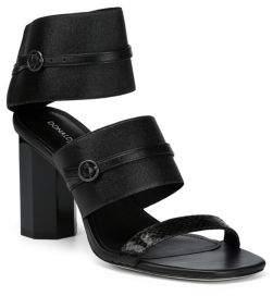 Donald J Pliner Edie Snakeskin-Embossed Sandals