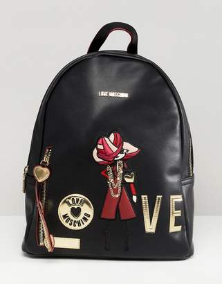 Love Moschino charm logo backpack