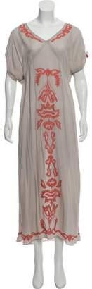 Poupette St Barth Short Sleeve Maxi Dress