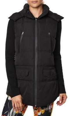 Betsey Johnson Hooded Puffer Vest