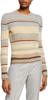 Loro Piana Striped Crewneck Crop Sweater