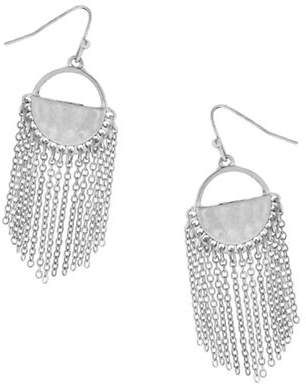Canvas Everyday Essentials Chain Fringe Drop Earrings