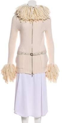 Christian Dior Wool Fringe-Trimmed Jacket