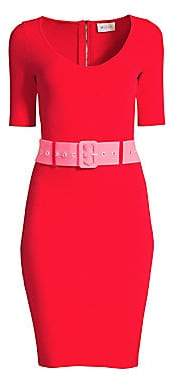 Milly Women's Belted Bodycon Dress