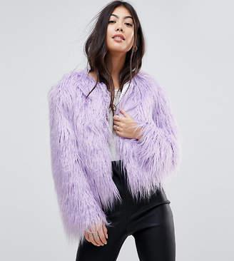 Miss Selfridge Petite Faux Fur Coat