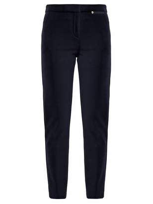 Versace Slim-leg stretch-cady trousers