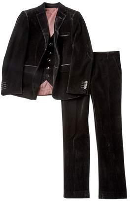 Isaac Mizrahi 3-Piece Solid Velvet Suit (Big Boys)