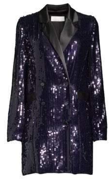 Fleur Du Mal Sequin Double-Breasted Blazer Dress