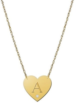 Women's Jane Basch Designs Diamond & Initial Pendant Necklace (Nordstrom Online Exclusive) $148 thestylecure.com