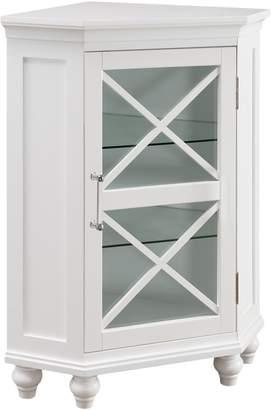 Elegant Home Fashions 1-Door Ridge Corner Floor Cabinet