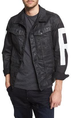 G-Star RAW Painted Denim Jacket, 3D Dark Aged $340 thestylecure.com