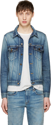 Saint Laurent Blue Denim Jacket $1,290 thestylecure.com