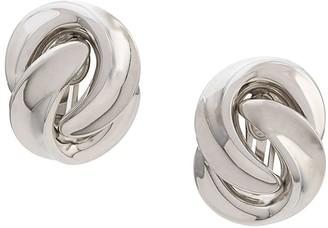 Celine Pre-Owned 80-90's twisted earrings