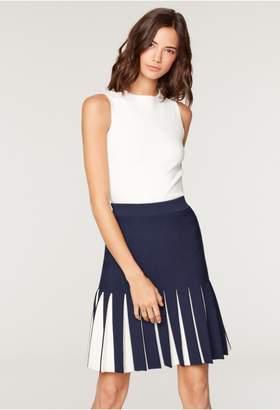 Milly Pleated Contrast Mermaid Skirt