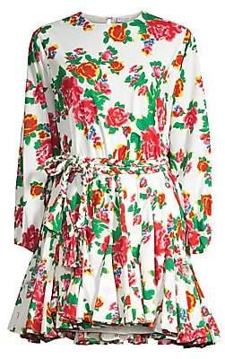 Rhode Resort Women's Ella Flared Floral Shirtdress