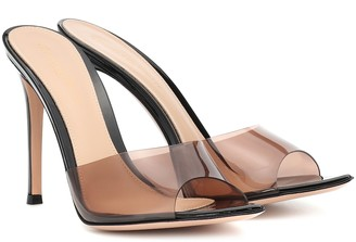 Gianvito Rossi Plexi 105 leather mules