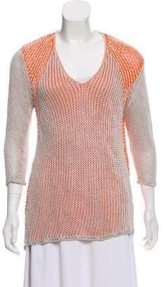 Helmut Lang Silk-Blend Open-Knit Sweater