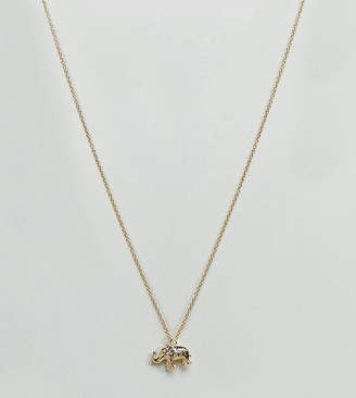 Orelia Gold Plated Elephant Ditsy Pendant Necklace