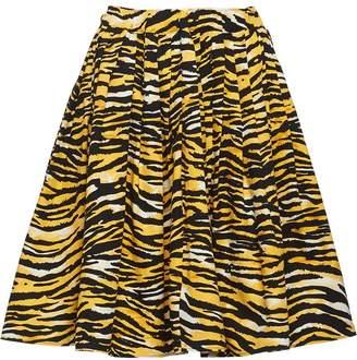Prada tiger stripe print skirt