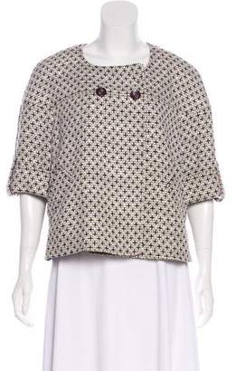 Ellen Tracy Short Sleeve Tweed Jacket