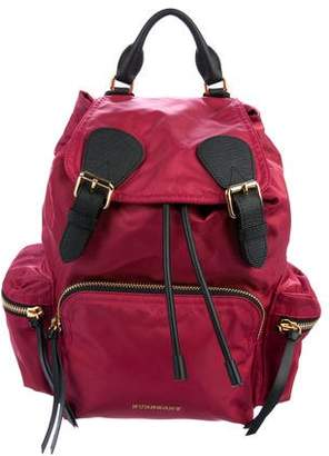 Burberry Nylon Leather-Trimmed Backpack