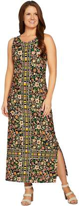 07720c79f80 C. Wonder Petite Knit Engineered Floral Print Knit Maxi Dress
