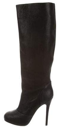 Vera Wang Lavender Label Leather Knee-High Boots