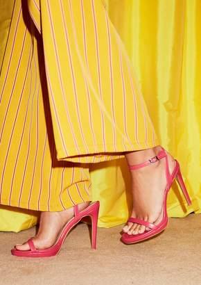695a0b13e263 Missy Empire Missyempire Davina Hot Pink Ankle Strap High Heels