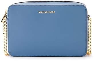 6c41305c00c6 Michael Kors Jet Set Travel Light-blue Saffiano Leather Shoulder Bag