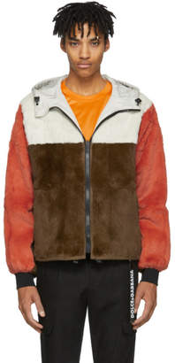 Yves Salomon Reversible Brown and Orange Vapor Chilli Jacket