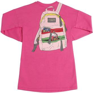 Little Marc Jacobs Backpack Printed Cotton Sweatshirt Dress