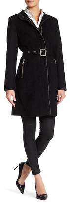 Vince Camuto Belted Wool Blend Coat