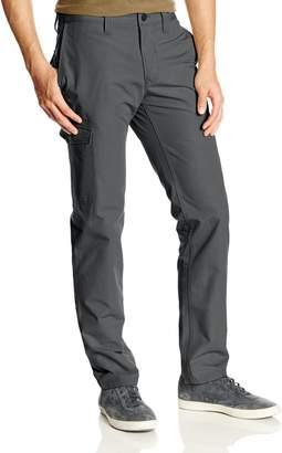 Haggar Men's LK Life Khaki Slim Taper Fit Flat Front Canvas Cargo Pant