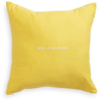 Kate Spade Rise and Shine Linen-Blend Cushion