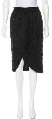Pepin Knee-Length Silk Skirt