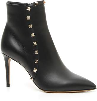 Valentino Rockstud Pointy Toe Bootie