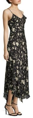 Polo Ralph Lauren Floral-Print Mulberry Silk Maxi Dress $398 thestylecure.com