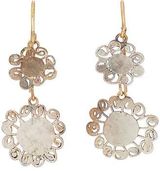 Judy Geib Women's Flowery Double-Drop Earrings