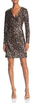 Sam Edelman Sequined Faux-Wrap Dress