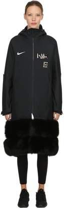 Vintage Nylon Coat W/ Fox Fur