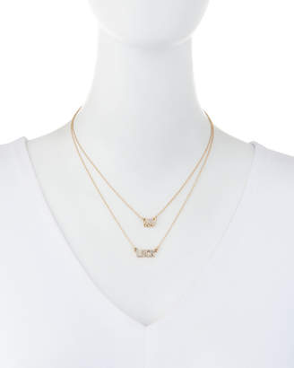 Lydell NYC Layered Crystal Luck Necklace