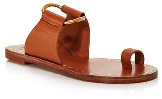 a25a2a7c1 Tory Burch Brown Leather Upper Women s Sandals - ShopStyle