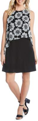 Karen Kane Floral Overlay Dress